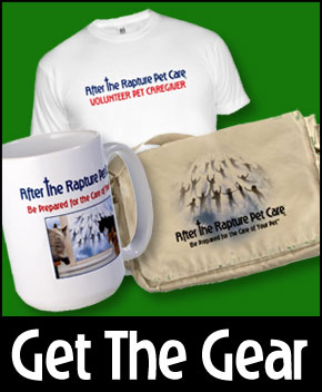 Get the After The Rapture Pet Care Gear